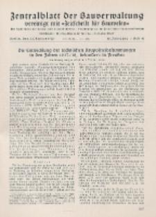 Zentralblatt der Bauverwaltung vereinigt mit Zeitschrift für Bauwesen : mit Nachrichten der Reichs- und Staatsbehörden. Jg. 58, H. 40