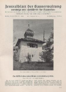 Zentralblatt der Bauverwaltung vereinigt mit Zeitschrift für Bauwesen : mit Nachrichten der Reichs- und Staatsbehörden. Jg. 58, H. 41