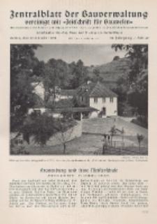 Zentralblatt der Bauverwaltung vereinigt mit Zeitschrift für Bauwesen : mit Nachrichten der Reichs- und Staatsbehörden. Jg. 58, H. 42