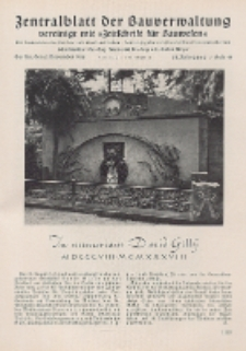 Zentralblatt der Bauverwaltung vereinigt mit Zeitschrift für Bauwesen : mit Nachrichten der Reichs- und Staatsbehörden. Jg. 58, H. 44