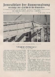 Zentralblatt der Bauverwaltung vereinigt mit Zeitschrift für Bauwesen : mit Nachrichten der Reichs- und Staatsbehörden. Jg. 58, H. 48