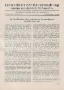 Zentralblatt der Bauverwaltung vereinigt mit Zeitschrift für Bauwesen : mit Nachrichten der Reichs- und Staatsbehörden. Jg. 58, H. 50