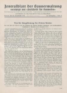 Zentralblatt der Bauverwaltung vereinigt mit Zeitschrift für Bauwesen : mit Nachrichten der Reichs- und Staatsbehörden. Jg. 58, H. 51