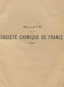 Bulletin de la Société Chimique de France. Documentation, Fascicules n. 9-10