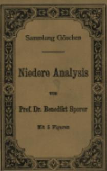 Niedere Analysis : mit 5 Figuren