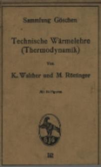 Technische Wärmelehre (Thermodynamik) : mit 54 Figuren