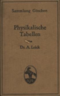 Physikalische Tabellen