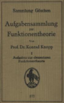 Aufgabensammlung zur Funktionentheorie. T. 1, Aufgaben zur elementaren Funktionentheorie