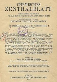 Chemisches Zentralblatt : vollständiges Repertorium für alle Zweige der reinen und angewandten Chemie, Jg. 77, Bd. 2, Nr. 16