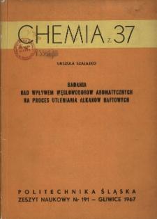 Badania nad wpływem węglowodorów aromatycznych na proces utleniania alkanów naftowych