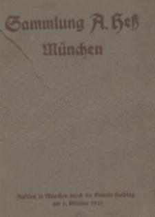 Sammlung Prof. Anton Hess, München : Antiquitäten, Möbel, Kunstgegenstände (Keramik, Glas, Metall, Vertäfelungen und Verkleidungen, Möbel, Holzfiguren, Varia)