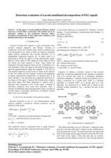 Distortion evaluation of wavelet multiband decomposition of EEG signals