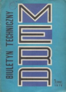 MERA : biuletyn przemysłu komputerowych systemów automatyzacji i pomiarów, Nr 1 (203)