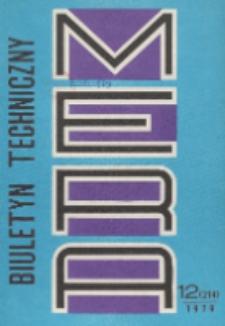 MERA : biuletyn przemysłu komputerowych systemów automatyzacji i pomiarów, Nr 12 (214)