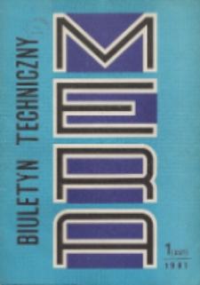 MERA : biuletyn przemysłu komputerowych systemów automatyzacji i pomiarów, Nr 1 (227)