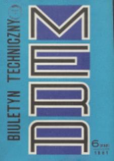 MERA : biuletyn przemysłu komputerowych systemów automatyzacji i pomiarów, Nr 6 (232)