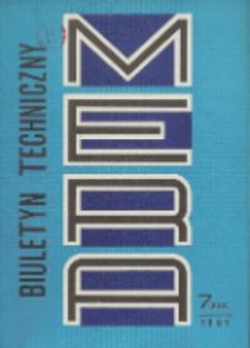 MERA : biuletyn przemysłu komputerowych systemów automatyzacji i pomiarów, Nr 7 (233)
