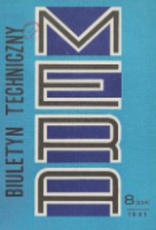 MERA : biuletyn przemysłu komputerowych systemów automatyzacji i pomiarów, Nr 8 (234)