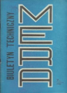 Biuletyn Techniczno-Informacyjny MERA, Nr 7 (241)