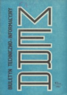 Biuletyn Techniczno-Informacyjny MERA, Nr 10 (244)