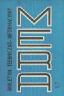 Biuletyn Techniczno-Informacyjny MERA, Nr 11 (245)