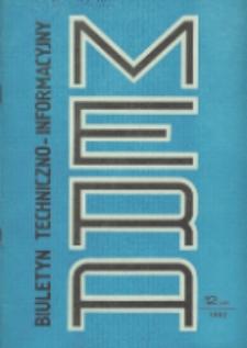 Biuletyn Techniczno-Informacyjny MERA, Nr 12 (246)