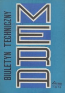 MERA : biuletyn przemysłu komputerowych systemów automatyzacji i pomiarów, Nr 4 (194)