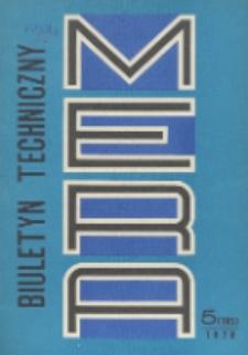 MERA : biuletyn przemysłu komputerowych systemów automatyzacji i pomiarów, Nr 5 (195)