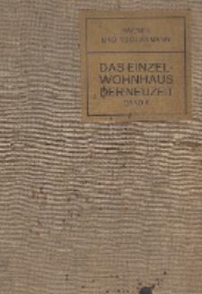 Das Einzelwohnhaus der Neuzeit. Bd. 2