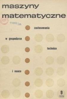 Maszyny Matematyczne Nr 9