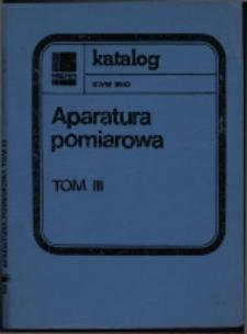 Aparatura elektroniczna do pomiaru wielkości elektrycznych : karty katalogowe. Tom 3