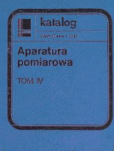 Przyrządy do pomiaru składu gazow i cieczy oraz analiz elektrochemicznych : karty katalogowe. Tom 4