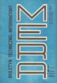 Biuletyn Techniczno-Informacyjny MERA, Nr 5-6 (263-264)