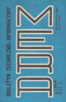 Biuletyn Techniczno-Informacyjny MERA, Nr 11-12 (269-270)