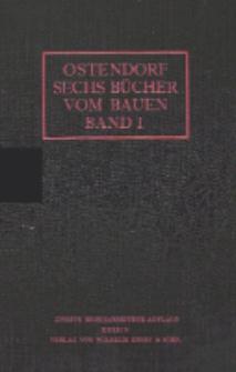 Sechs Bücher vom Bauen : enthaltend eine Theorie des architektonischen Entwerfens. Bd. 1, Einführung