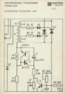Zastosowania tyrystorów typów BTP : informator techniczny 1974