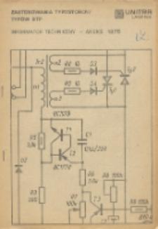 Zastosowania tyrystorów typów BTP : informator techniczny - aneks 1975