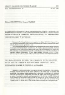 Zależności pomiędzy polityką przestrzenną gminy a kierunkami restrukturyzacji terenów przemysłowych na przykładzie dzielnicy Łabędy w Gliwicach