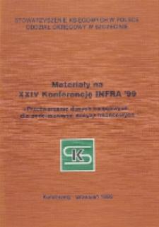 """Materiały na XXIV Konferencję INFRA' 99 """"Przetwarzanie danych księgowych dla podejmowania decyzji finansowych"""", Kołobrzeg, wrzesień 1999r."""