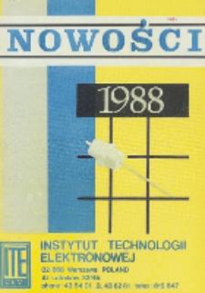 Nowości 1988 : karty katalogowe