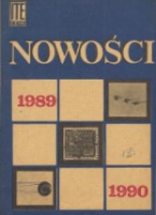 Nowości 1989-1990 : karty katalogowe