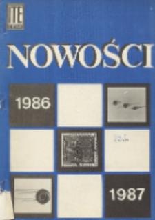 Nowości 1986-1987 : karty katalogowe