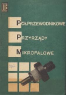 Półprzewodnikowe przyrządy mikrofalowe : karty katalogowe