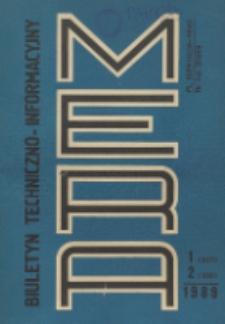 Biuletyn Techniczno-Informacyjny MERA, Nr 1-2 (307-308)