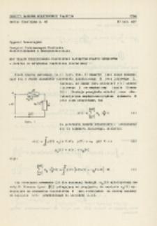 Moc układu nieliniowego pobudzonego napięciem prawie okresowym : dodatek do artykułu: Uogólniona teoria mocy