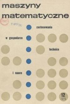 Maszyny Matematyczne Nr 12