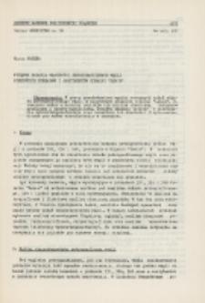 """Wstępne badania własności petrograficznych węgli niektórych pokładów i sortymentów kopalni """"Lenin"""""""