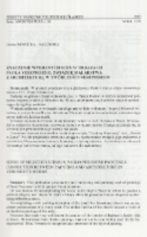 Znaczenie wybranych scen w obrazach Paola Veronesego. Związek malarstwa z architekturą w twórczości Veronesego