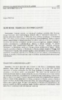 Aldo Rossi - tradycja i indywidualność