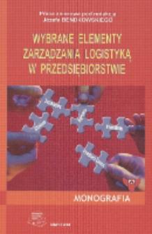 Wybrane elementy zarządzania logistyką w przedsiębiorstwie